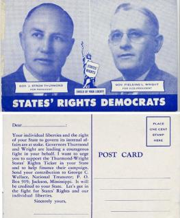 Click for Full View of Thurmond Wright 1948 Postcard